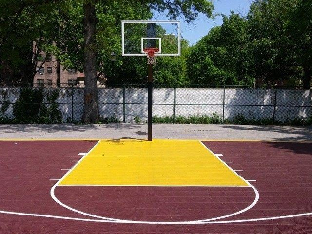 4th street park basketball court mount vernon ny for Custom basketball court cost